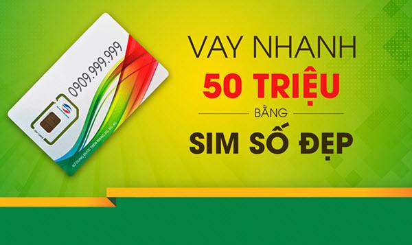 Vay tiền bằng SIM số đẹp; 50 triệu, 24 tháng, lãi từ 1.66%
